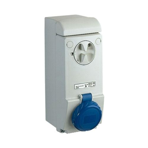 Schneider Electric Pratika Industrial Wall Mount Socket with Interlock Switch IP67