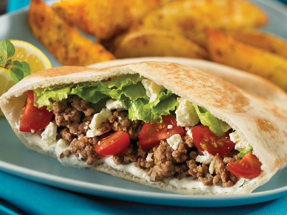 Stuffed Ground Beef Pita