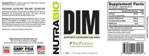 DIM with Calcium D-Glucarate 60 Vegetable Capsules