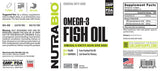 Omega 3 Fish Oil; 150 soft gels;  NutraBio