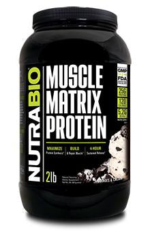 Muscle Matrix 2lb Protein; Cookies & Cream; Nutrabio