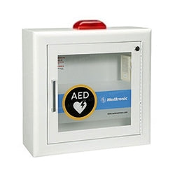 Physio-Control AED Cabinet - Surface-Mount with Alarm and Strobe Light - Avid Safety