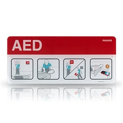 Philips AED Awareness Placard - Red - Avid Safety