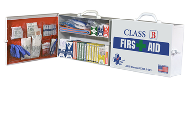 Class B First Aid Kit/Cabinet - 15 person - Avid Safety