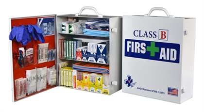 Class B First Aid Kit/Cabinet - 20 Person - Avid Safety