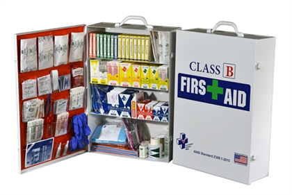 Class B First Aid Cabinet - 25 Person - Avid Safety