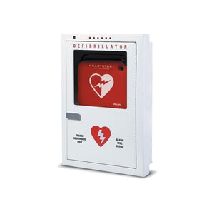 Philips Defibrillator Cabinet, Semi-Recessed - Avid Safety