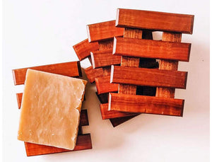Beautiful and practical wooden soap holder