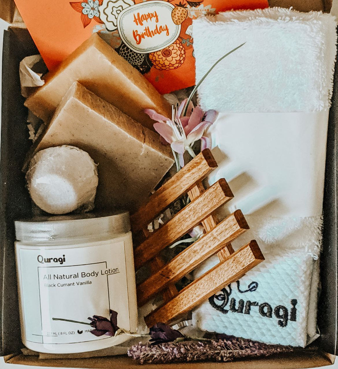 Birthday Gift Basket, Spa Gift Set, Gift for Her, Gift Box for Her, Natural Spa set, Relaxing Set, Get Well soon Gift, Miss you gift box