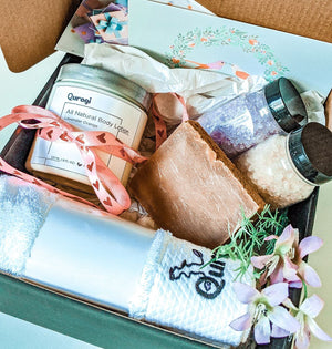 Personalized Christmas Gift Basket, Gift Box, Spa Set, Natural Gift for Her, Handmade Gift Box, Gift for Friend, Xmas Gift Box