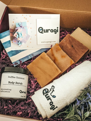 Spa Set, Send a Gift, Birthday Gift Box, Soap Bars, Coffee Body Scrub, Gift Box for Mom, Spa Ritual Gift, Stay Home Spa, Best Gift for Her