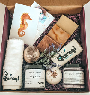 Spa Gift Basket, Gift Box for Mom, Coffee Body Scrub, Bath Soak, Home Spa Kit, Gift for Mom Gift Basket, Birthday gift for Her, Relaxation