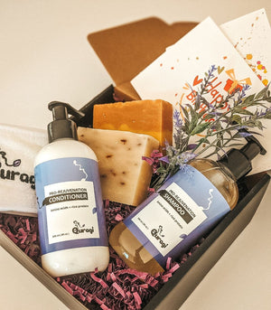 Spa Gift for Mom, Gift for Mom Gift, Gift for Grandma, I Miss You Gift, Appreciation Gift Basket,  Gift Box for Her, Bar Soaps, Hair Care
