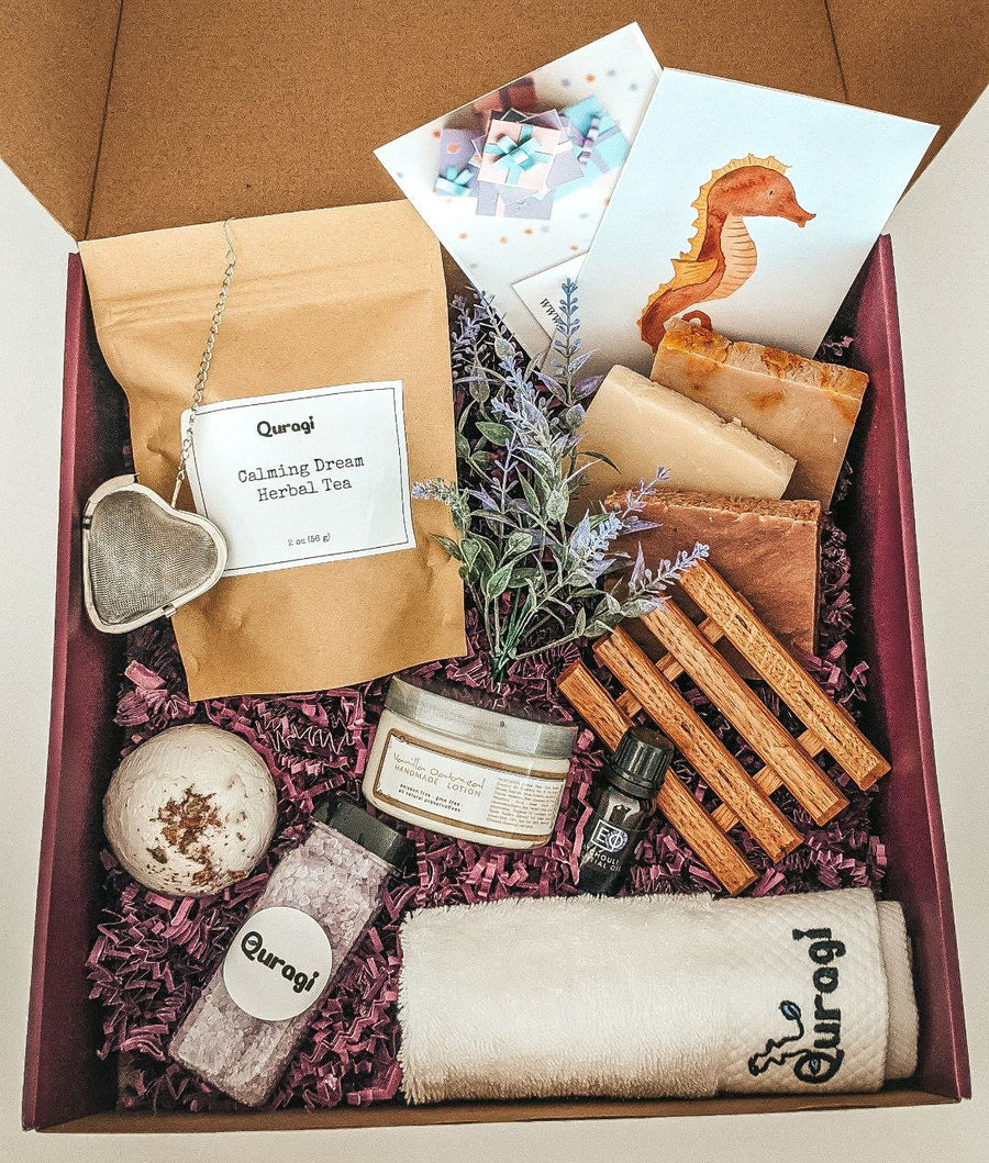 Spa Gift for Mom, Mother's Day Gift, Gift for Grandma, I Miss You Gift, Appreciation Gift Basket,  Gift Box for Her, Bar Soaps, Body Butter