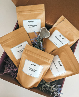 Tea Gift  Box, Mother's Day Gift, Thinking Of You, Gift Box for Her, Tea Gift Set, Herbal Tea, Tea Sampler, Loose Tea