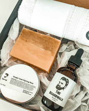 Spa Gift Box for Him, Beard Oil Gift