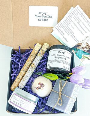 Spa gift Box, Birthday Gift Basket for Her,  Relaxation Basket, Bridal Shower Gift, Spa Gift Set, Birthday Gift Box