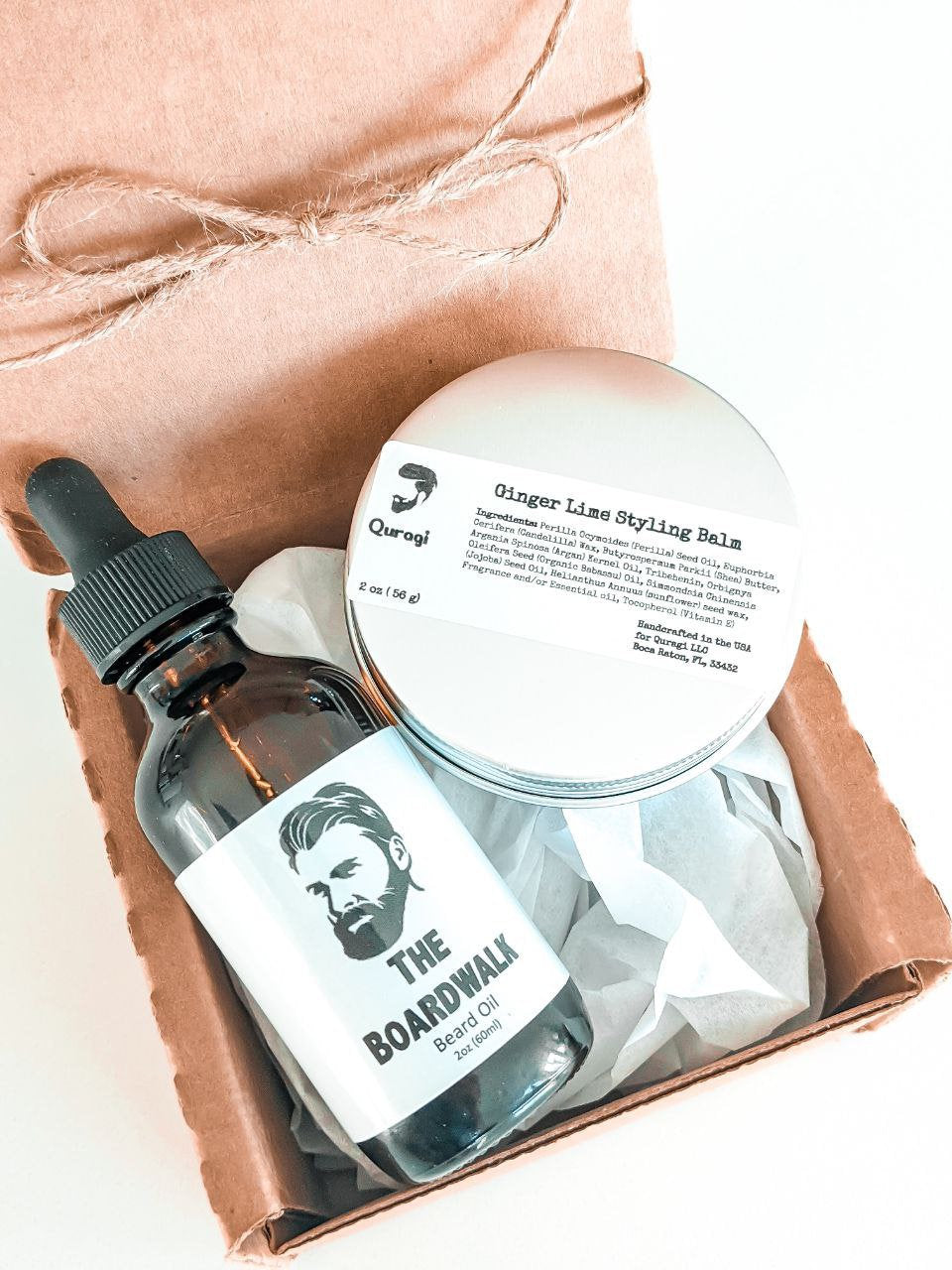 Gift  Box for Men, Gift Set For Him, Best Friend Gift, Natural Men's Gift Set, Beard and Hair Care Gift Basket, Styling Balm, Beard Oil