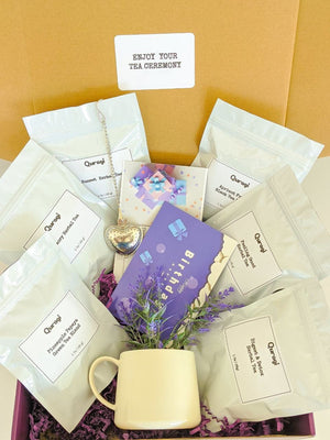 Tea Lover Gift  Box, Gift for Mom, Thinking Of You, Gift Box for Her, Tea Gift Set, Herbal Tea, Tea Sampler, Loose Tea, Natural Tea Gift