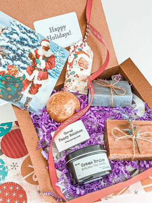 Holiday Gift Box , Christmas Spa Gift Set, Christmas Gift Idea, New Year Gift Box, Personalized Holiday Gift, Merry Christmas Gift Basket