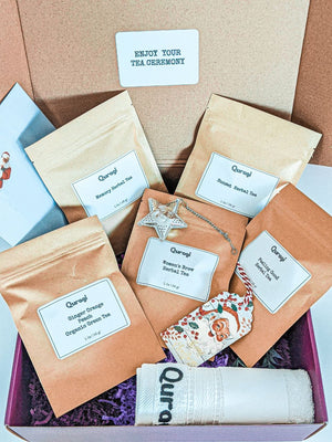 Tea Gift Basket for Women, Tea Gift Set, Christmas Gift Box, Gifts for her, Holiday Gift Set, Holiday Gift Box, Tea gift for Mom