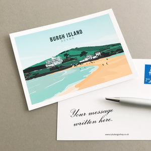 Burgh Island Postcard with personal message