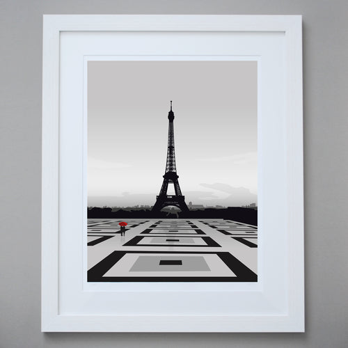 'Paris in the rain' - Limited Edition Giclée Fine Art Print