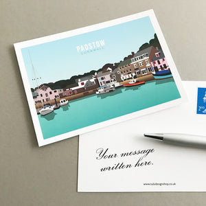 Padstow Postcard with personal message
