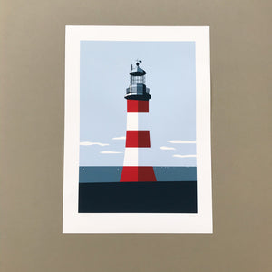 Smeatons Tower A3 Print