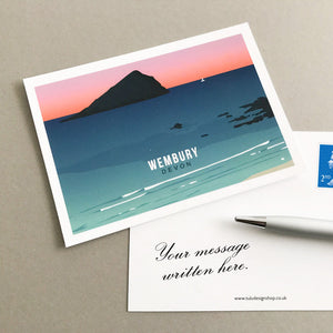 Wembury Postcard with personal message
