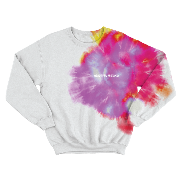 Beautiful Mistakes Blurred Crewneck-Maroon 5
