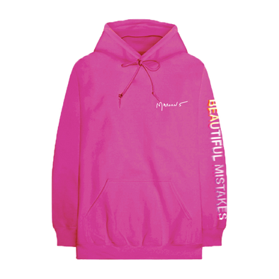 Beautiful Mistakes Glitched Magenta Hoodie-Maroon 5