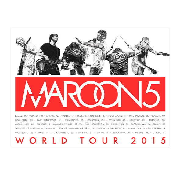 Maroon 5 Live Drawing Poster