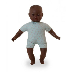 Miniland soft bodied african doll