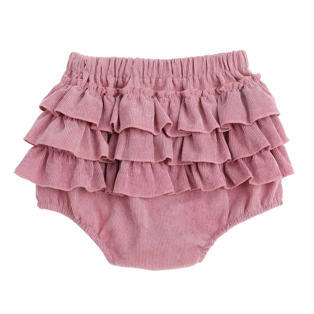 Blush three layer ruffle cord bloomers