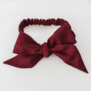 Burgundy Headband wrap for babies and toddlers
