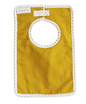 Butterscotch linen bib