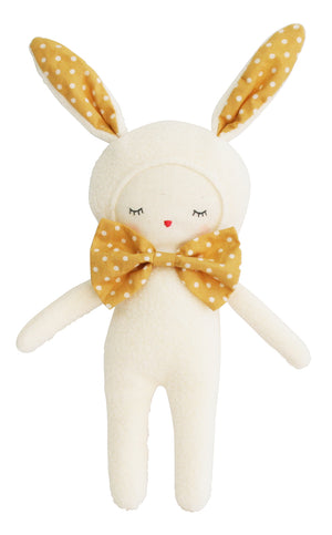 Dream Baby Bunny- Ivory and Butterscotch Polka dot