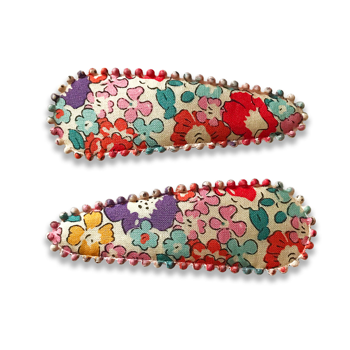 Hair Clips floral pattern set of two, Hair Accessories, The Little Bird's Shop