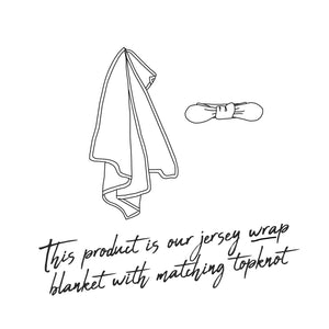 diagram of jersey swaddle and bow