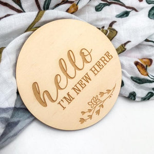 Baby Milestone Plaque- Hello I'm New Here