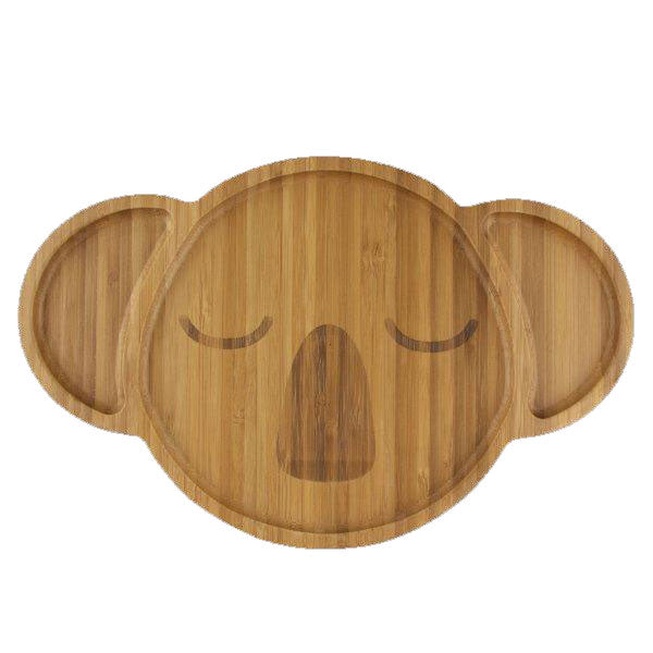 Bamboo dinnerware koala face, Kids mealtime, The Little Bird's Shop