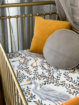 Kushiro Crane Fitted Cot Sheet