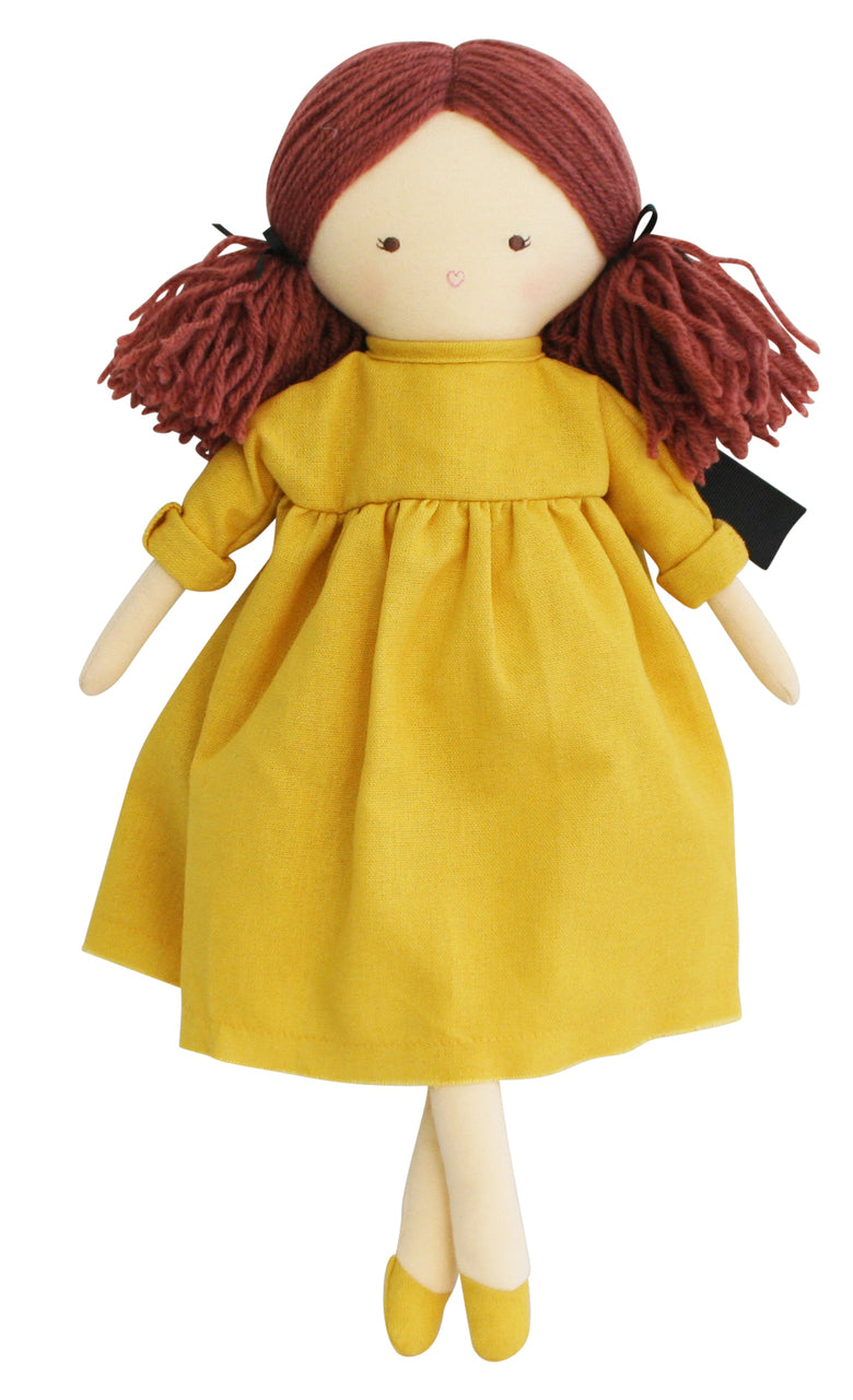 Matilda Doll in butterscotch dress and red hair