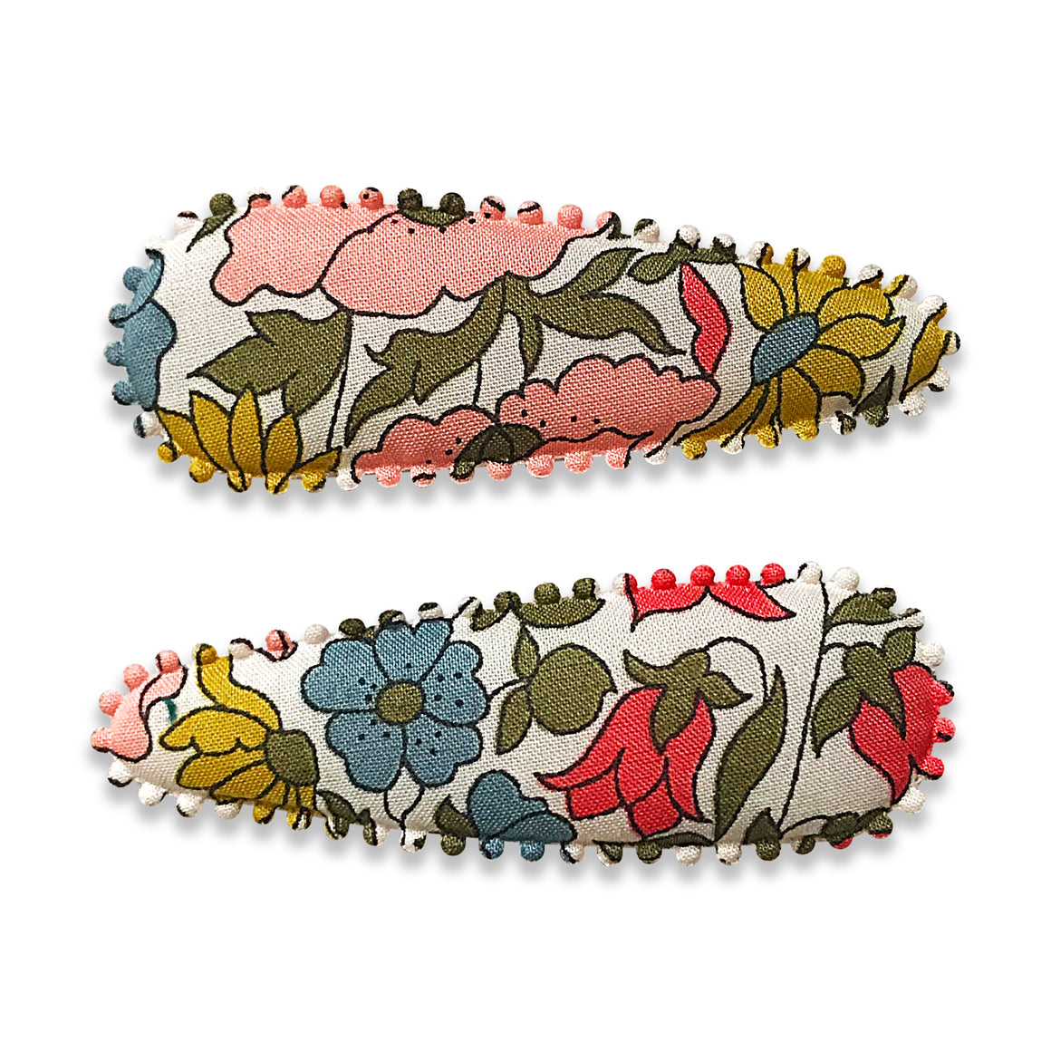 Set of two floral hair clips