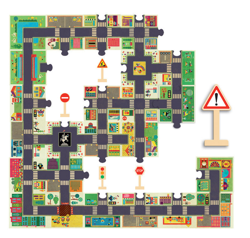 City Road Giant Floor Puzzle