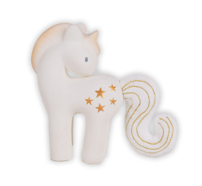 Unicorn sparkling stars teether and bath toy
