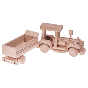 Wooden Tractor with trailor