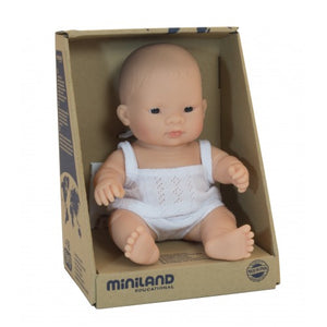 Miniland Asian Baby doll girl 21cm