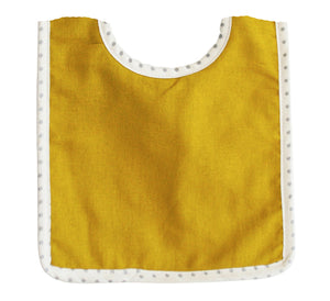Butterscotch Linen Bibs